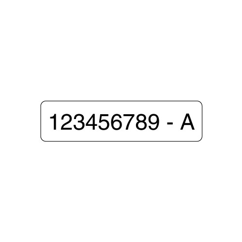 """Custom Serialized Label (2.00"""" x .50"""")"""