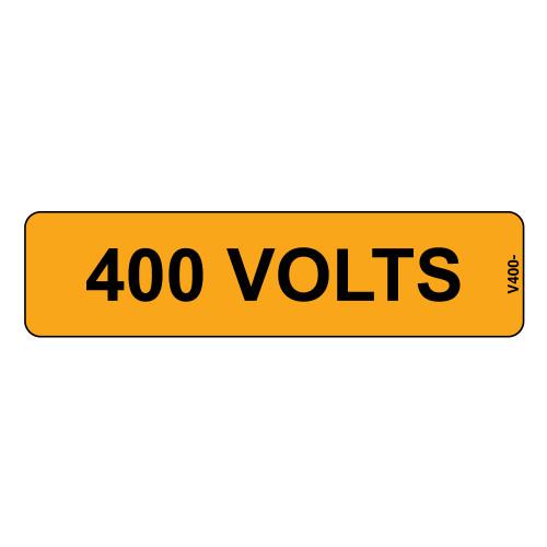 400 Volts Label (V400-)