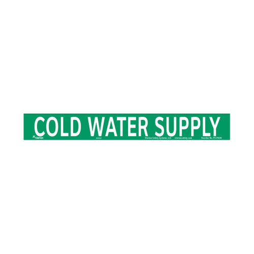 Cold Water Supply Pipe Marker (PS-PA8G)