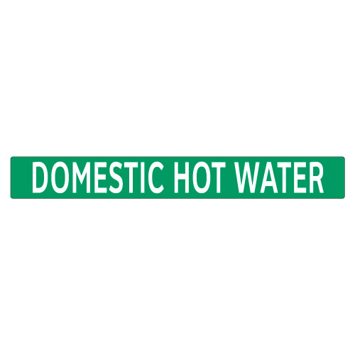 DOMESTIC HOT WATER Pipe Marker (PS-PB8G)