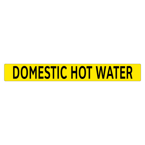 DOMESTIC HOT WATER Pipe Marker (PS-PB8Y)