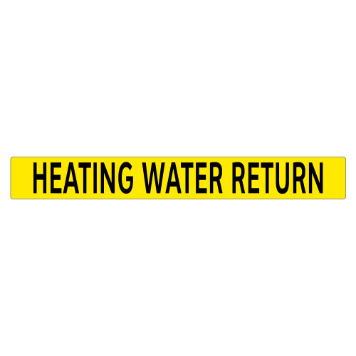 HEATING WATER RETURN Pipe Marker (PS-PD1Y)