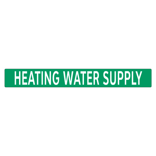 HEATING WATER SUPPLY Pipe Marker (PS-PD2G)