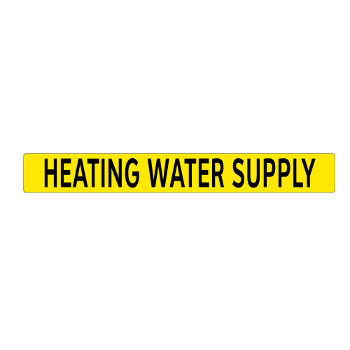 HEATING WATER SUPPLY Pipe Marker (PS-PD2Y)