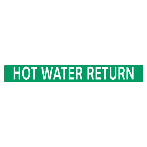 HOT WATER RETURN Pipe Marker (PS-PD5G)