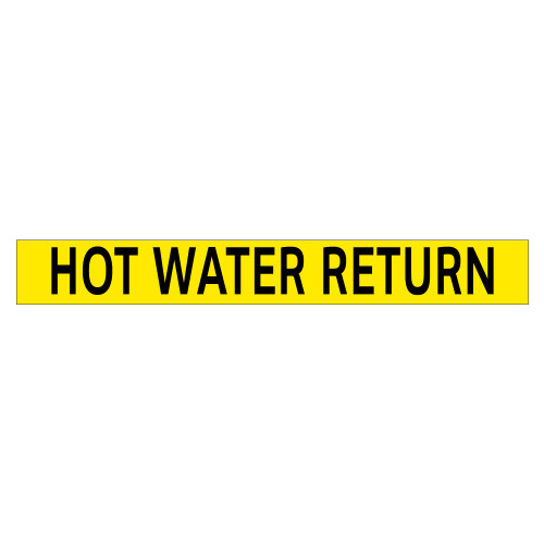 HOT WATER RETURN Pipe Marker (PS-PD5Y)