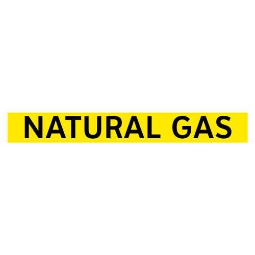NATURAL GAS Pipe Marker (PS-PE2Y)