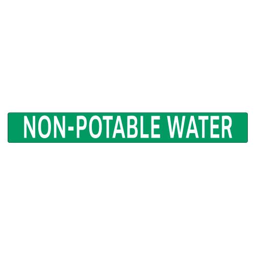 NON-POTABLE WATER Pipe Marker (PS-PE4G)