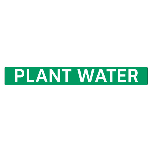PLANT WATER Pipe Marker (PS-RE1G)
