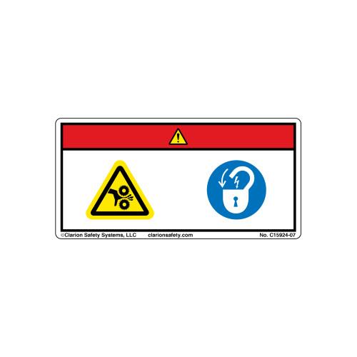Danger/Rotating Cutting Blade (C15924-07)