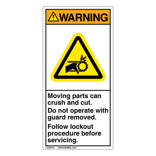 Warning/Hand-Chain Drive Label (H1012-02WV)