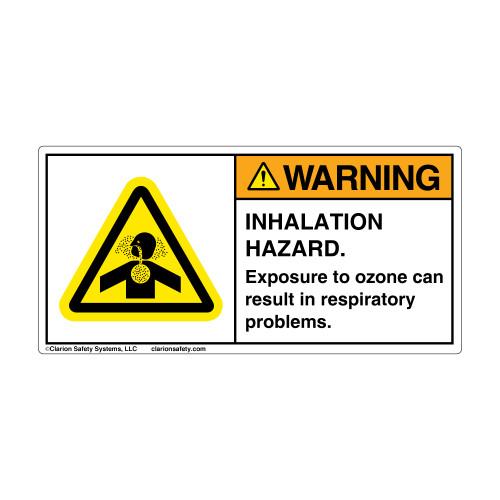 Warning/Ozone Warning Label (H4006-F93WH)