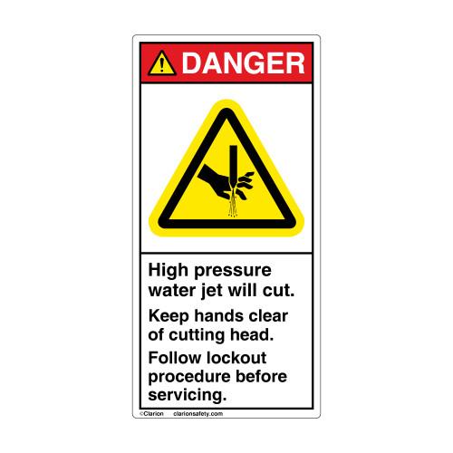Danger/High Pressure Water Label (H1137-C0DV)