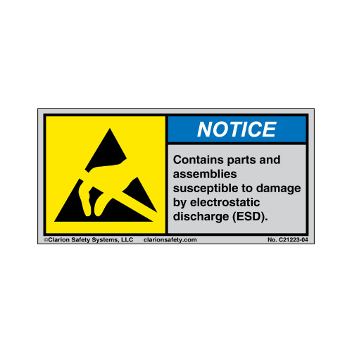 Notice/Contains Parts And Assemblies (C21223-04)