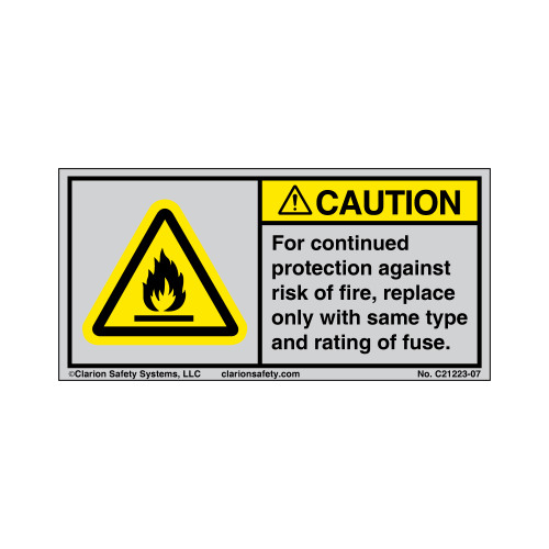 Caution/For Continued Protection (21223-07)