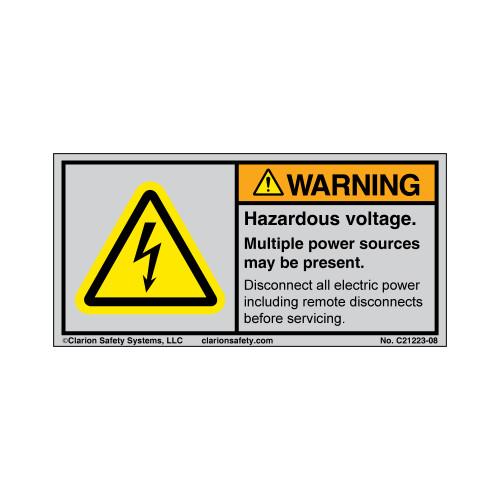 Warning/Hazardous Voltage (C21223-08)