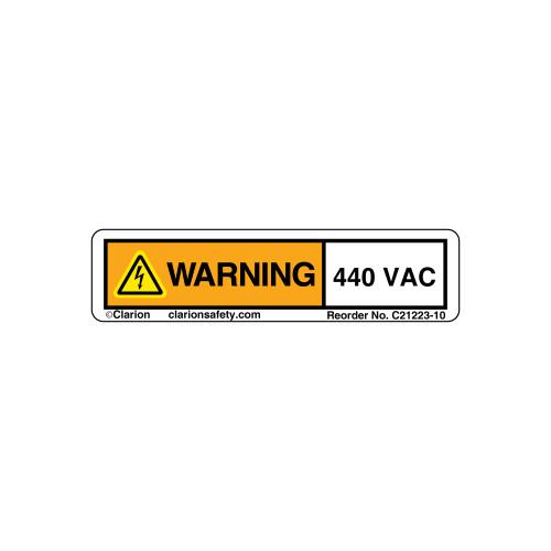 Warning/440 VAC (C21223-10)