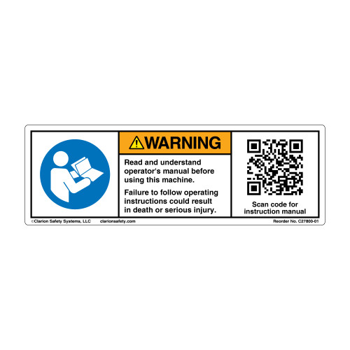 Warning/Read and Understand (C27800-01)