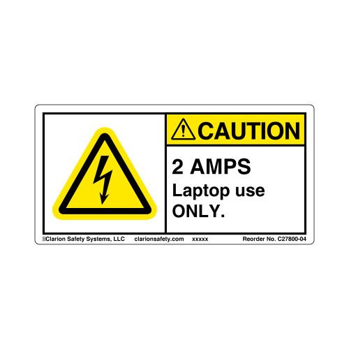 Caution/2 Amps (C27800-04)