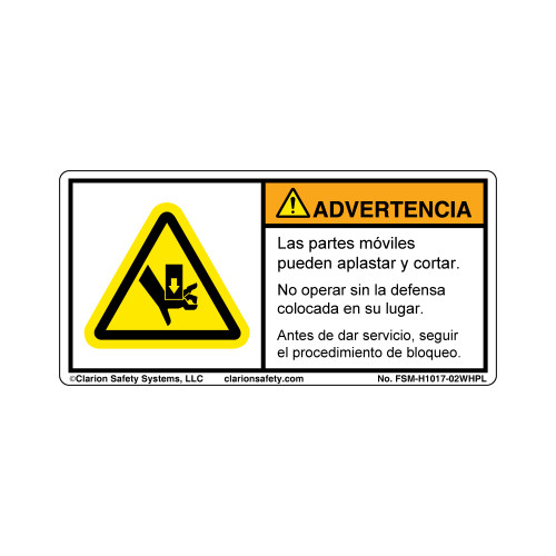 Warning/Moving Parts (FSM-H1017-02WHPL)