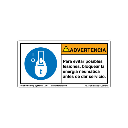 Warning/To Avoid Possible (FSM-H6143-5CWHPK)