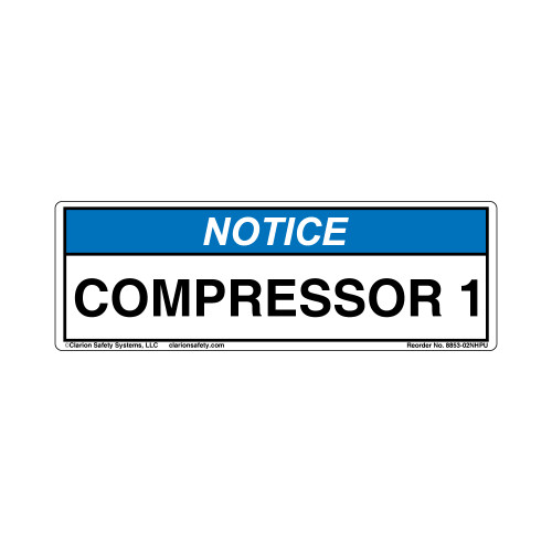 Notice/COMPRESSOR 1 (8853-02NHPU)