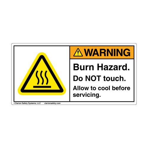 Warning/Burn Hazard (H6043-181WHBK)