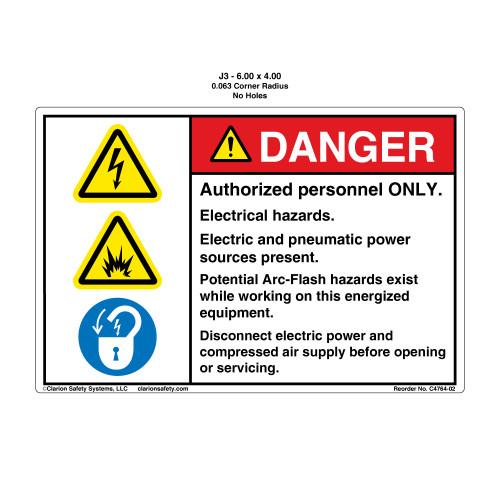 Danger/Potential Arc Flash (C4764-02)