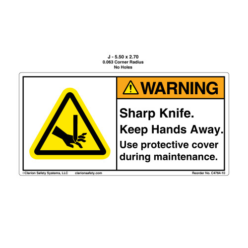 Warning/Sharp Knife Keep (C4764-10)