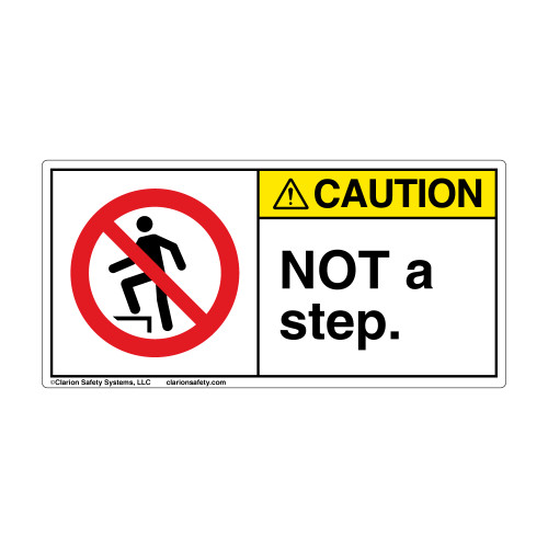 Caution/Not A Step (H5080-470CH)