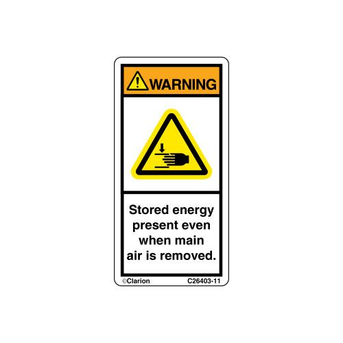 Warning/Stored Energy Present (C26403-11)