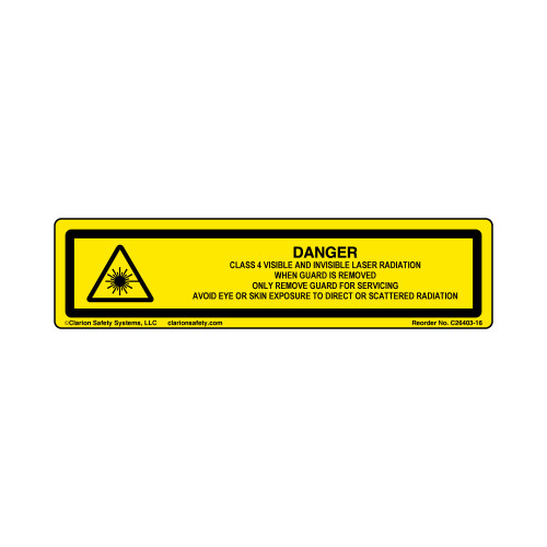 Danger/Class 4 Visible and Invisible (C26403-16)