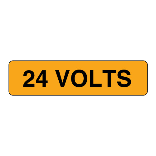 24 Volts Label (V024-)