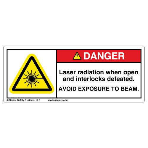 Danger/Laser Radiation When Open Label (H6003-140DH)