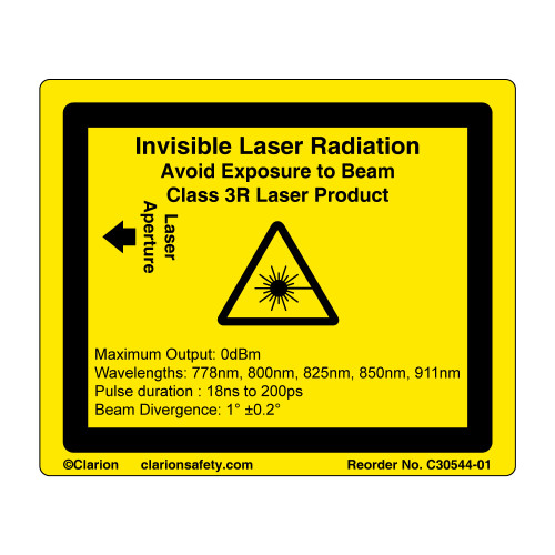 Invisible Laser Class 3R (C30544-01)