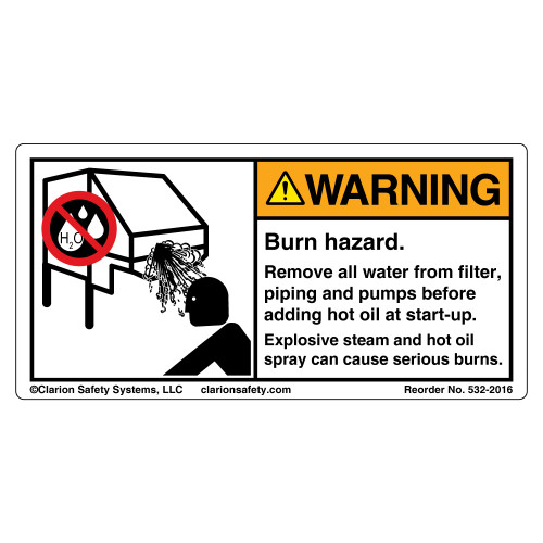 Warning/Explosion Hazard Label (532-2016)