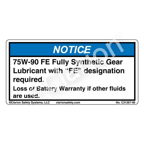 Notice/75W-90 FE (C31267-06)