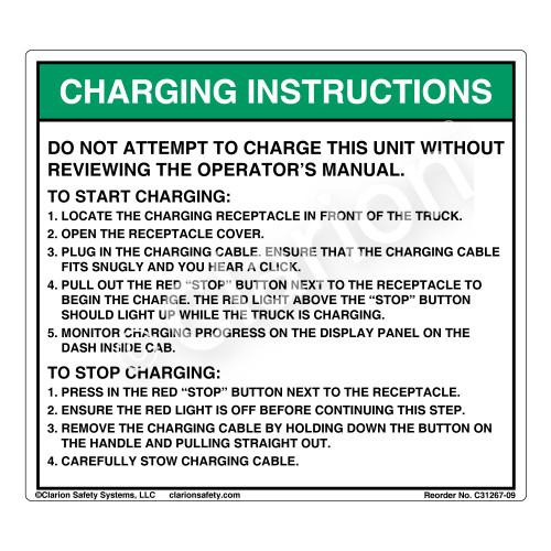 Charging Instructions (C31267-09)