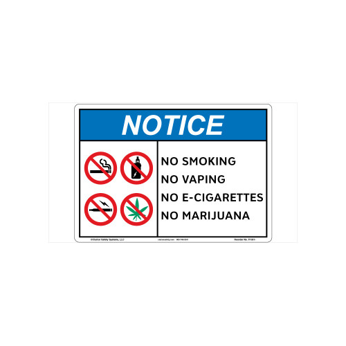 Notice No Vaping Sign (F1351-)