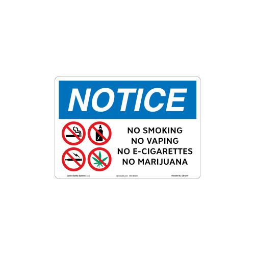 Notice No Vaping Sign (OS1277NH-)