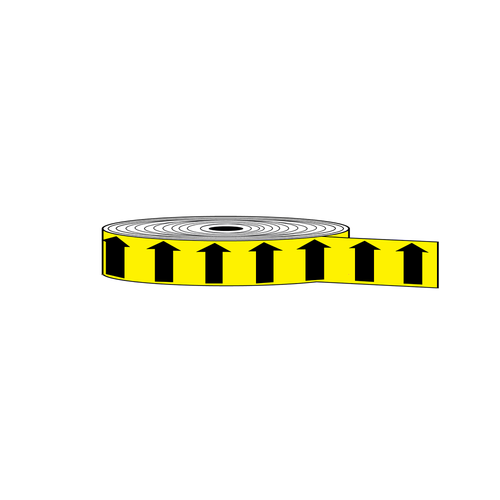 "Arrow Banding Tape 1"" x 30yd Black on Yellow (ABT-1-MY)"