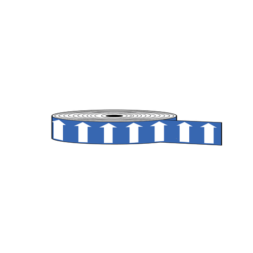 "Arrow Banding Tape 1"" x 30yd B White on Blue (ABT-1-WB)"