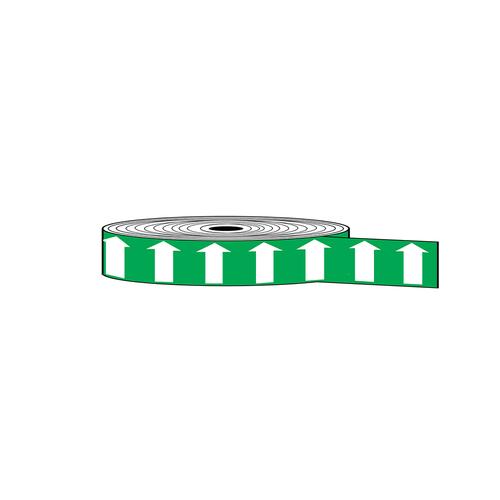 "Arrow Banding Tape 1"" x 30yd White on Green (ABT-1-WG)"