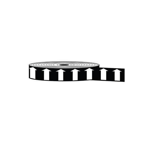 "Arrow Banding Tape 1"" x 30yd White on Black (ABT-1-WM)"