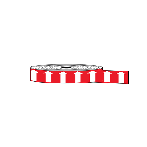 """Arrow Banding Tape 1"""" x 30yd White on Red (ABT-1-WR)"""