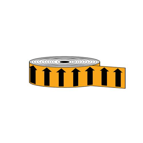 "Arrow Banding Tape 2"" x 30yd Black on Orange (ABT-2-MO)"