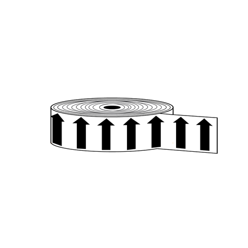 "Arrow Banding Tape 2"" x 30yd Black on White (ABT-2-MW)"