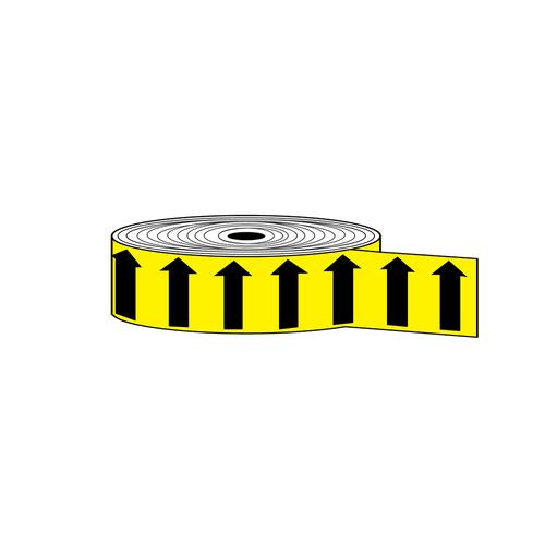 "Arrow Banding Tape 2"" x 30yd Black on Yellow (ABT-2-MY)"