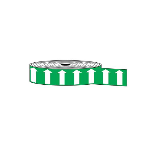 "Arrow Banding Tape 2"" x 30yd White on Green (ABT-2-WG)"