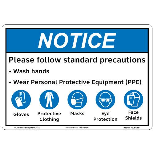 Notice/Standards Precautions (F1355-)